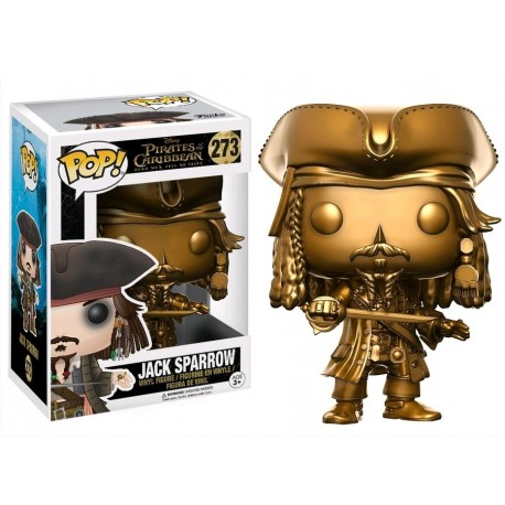 Pirates of the Caribbean 5: Dead Men Tell No Tales - Jack Sparrow Gold US Exclusive Pop!