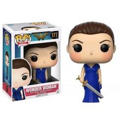 Wonder Woman Movie - Wonder Woman Blue Dress with Sword US Exclusive Pop! Vinyl
