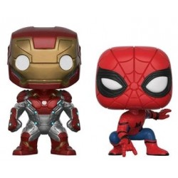 SpiderMan: HC - Iron Man / SpiderMan US Exclusive Pop! Vinyl 2-Pack