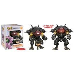 "Overwatch - D.Va & MEKA (Carbon Fibre) US Exclusive 6"" Pop! Vinyl"