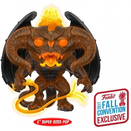 """Lord of the Rings - Balrog Glow NYCC 2017 US Exclusive 6"""" Pop! Vinyl"""