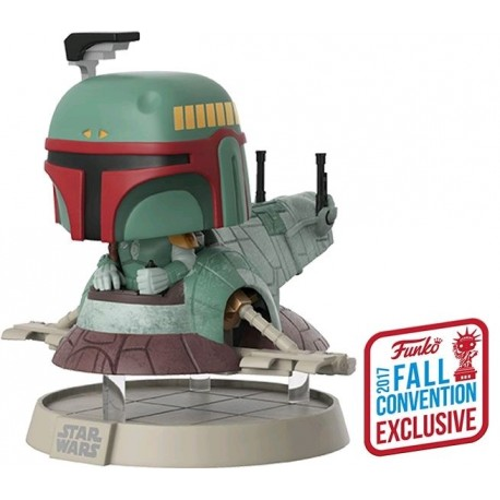 Star Wars - Boba Fett with Slave One NYCC 2017 US Exclusive Pop! Deluxe