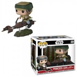 Star Wars - Leia on Speeder Bike (w Chase) Pop! Deluxe