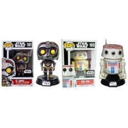 Star Wars C-3PO & R5-D4 (Smugglers Bounty Exclusives) Funko Pop! Bundle (Pack of 2)