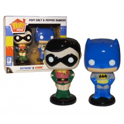 Batman & Robin Salt & Pepper Shakers LOC Stickered Exclusive Funko Pop! Vinyl