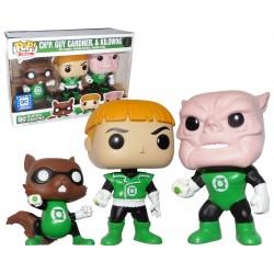 Green Lantern Ch'p, Guy Gardner, & Kilowog LOC Stickered Exclusive Funko Pop! 3-Pack