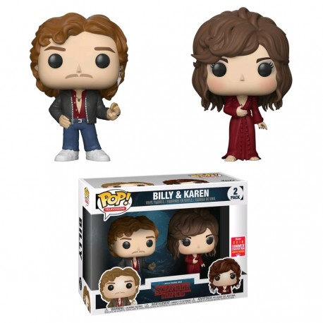 Stranger Things - Billy & Karen SDCC 2018 US Exclusive Pop! Vinyl 2pk