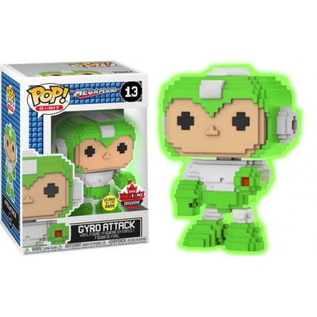 Mega Man - Gyro Attack Glow 8-bit Fan Expo 2018 Exclusive Pop! Vinyl