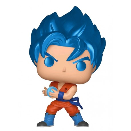 Dragon Ball Z - SSGSS Goku with Kamehameha Metallic US Exclusive Pop! Vinyl