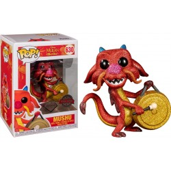 Mulan - Mushu with Gong Diamond Glitter US Exclusive Pop! Vinyl