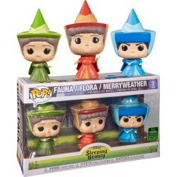 Sleeping Beauty - Fauna, Flora & Merryweather Fairies ECCC 2020 Exclusive Pop! Vinyl 3-pack