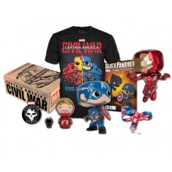 Marvel Collector Corps - Civil War Box (Captain America & Ironman Twin Pack Funko Pops!)